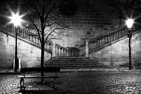 Charles brug van de kant van Mala Strana, Praag Stockfoto