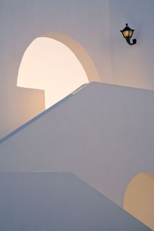 architectural detail of a stairway photo