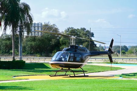 airfield: helicopter for sightseeing flight