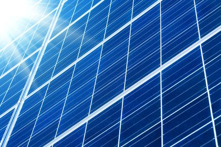 solar panel with sunbeams Stock Photo - 6567614