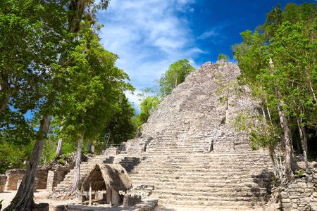 roo: La Iglesia (Church) Pyramid, Coba, Quintana Roo, Mexico
