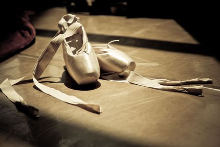 ballet shoes: ballet slippers Stock Photo