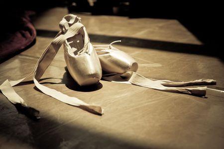 ballet dance: ballet slippers Stock Photo