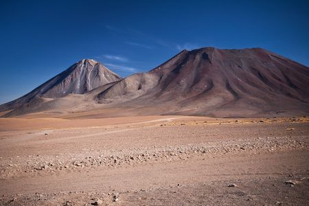 volcanoes Licancabur and Juriques on the border between Chile and Bolivia photo