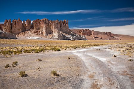 tara: Rock cathedrals in Salar de Tara, Chile