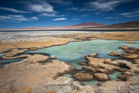 Salar de Tara, desert Atacama, Chile 版權商用圖片