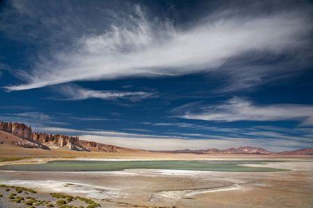 salt lake Salar de Tara, Chile, near the border between Bolivia, Chile and Argentina photo