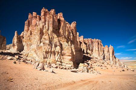 salar: Rock cathedrals in Salar de Tara, Los Flamencos National Reserve, Chile