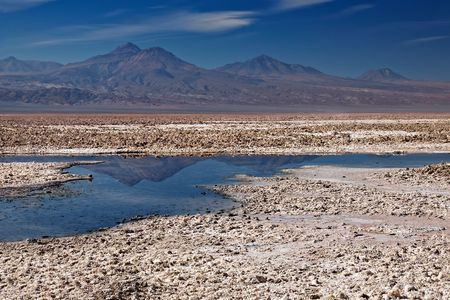 briny: salar de Atacama, Chile Stock Photo
