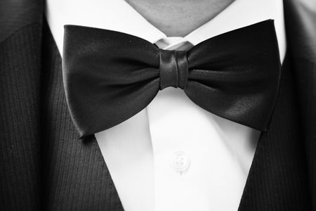 black bow tie photo