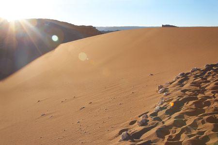 sand dune at the Valle de la Luna (Moon Valley) in Atacama desert, Chile photo