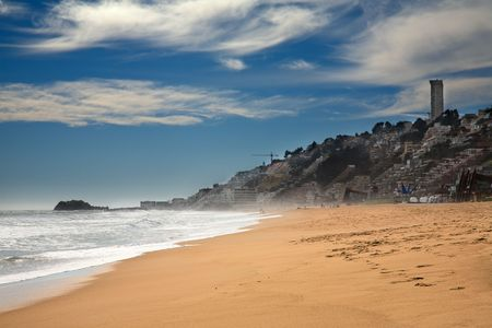 del: beach at Vina del Mar, Chile
