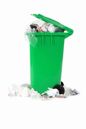 garbage bin: desbordante de basura bin