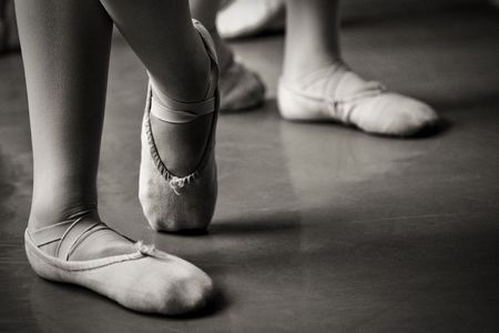 legs in ballet slippers Banque d'images