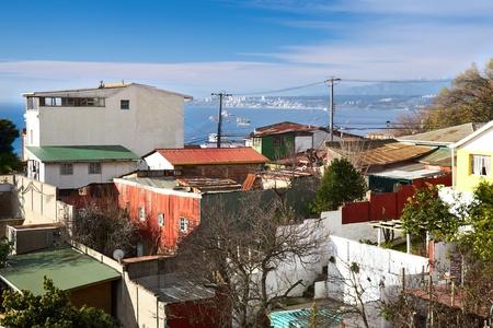 pablo neruda: view from Pablo Neruda Museum in Valparaiso, Chile