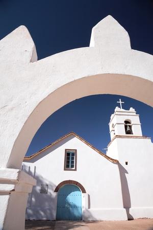 Iglesia de San Pedro, un monumento nacional, San Pedro de Atacama, Chile Foto de archivo - 8323236
