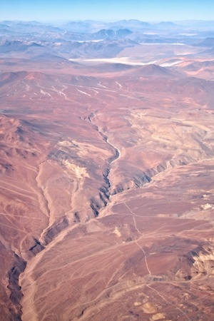 earthquake: crack in desert after earthquake, Chile Stock Photo