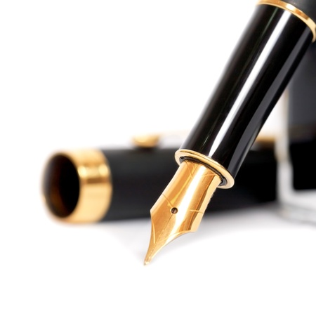 fountain pen with ink bottle Stock Photo - 8931773