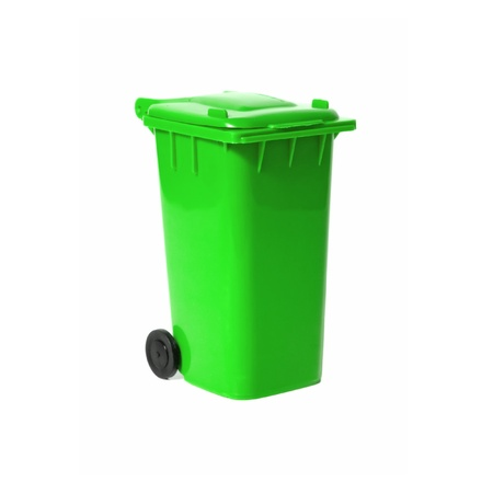 green empty recycling bin photo