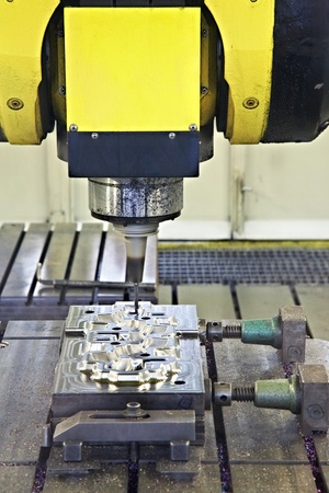 tooling: CNC milling cutter Stock Photo