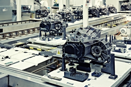 factory automation: manufacturing parts for transmission