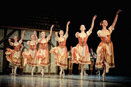 balletic: PRAGUE, CZECH REPUBLIC - APRIL 6: The Prague State Opera ballet ensemble presents the traditional version of Giselle on April 6, 2011 in Prague