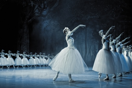 PRAGUE, CZECH REPUBLIC - APRIL 6: The Prague State Opera ballet ensemble presents the traditional version of Giselle on April 6, 2011 in Prague Stock Photo - 10925496