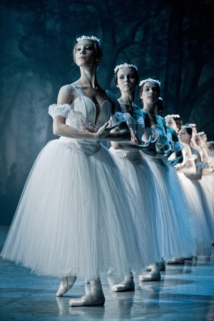 PRAGUE, CZECH REPUBLIC - APRIL 6: The Prague State Opera ballet ensemble presents the traditional version of Giselle on April 6, 2011 in Prague