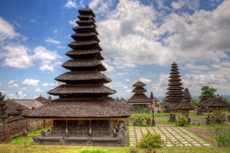 The Mother Temple of Besakih or Pura Besakih, largest and holiest hindu temple on Bali, Indonesia photo