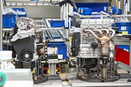 productie-onderdelen voor auto motor Stockfoto