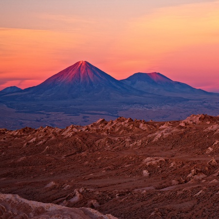 volcanoes Licancabur and Juriques, Chile photo