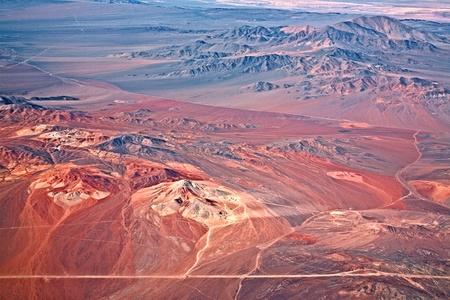 atacama: aerial view of volcanoes, Atacama desert, Chile