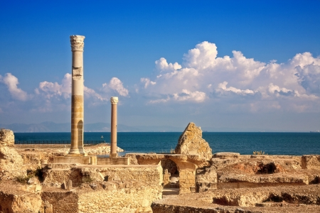 ruins of Antonine Baths at Carthage, Tunisia