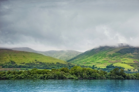 loch lomond: view from Loch Lomond on the hills, Scotland