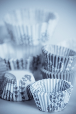 baking cups for cupcakes or muffins photo