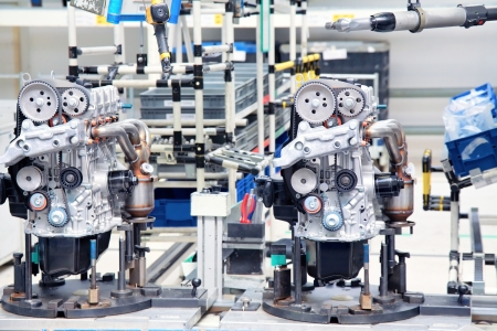 manufacturing parts for car engine Standard-Bild