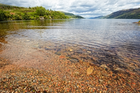 View at Loch Ness , the most famous scottish lake, Fort Augustus, Scotland