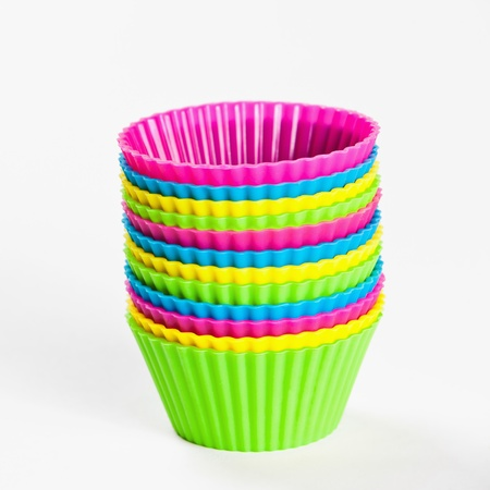 baking silicone cups for cupcakes or muffins photo
