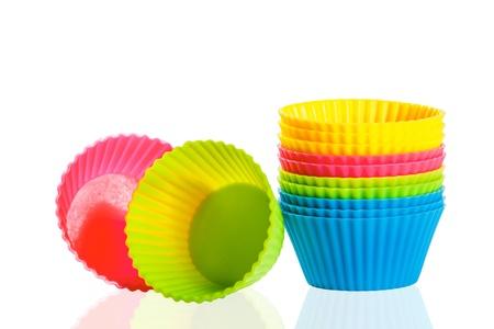 decoracion de pasteles: tazas para hornear de silicona para magdalenas o muffins