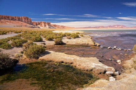 tara: salt lake Salar de Tara, Chile Stock Photo