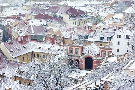 winter garden: winter garden and roofs of Ledebursky palace, Prague