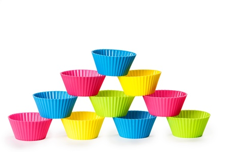 molds: baking silicone cups for cupcakes or muffins