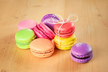 traditional french colorful macarons Standard-Bild