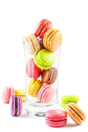 유리 프랑스 다채로운 마카롱