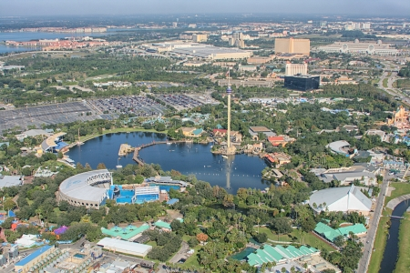 aerial animal: ORLANDO, USA - NOVEMBER 13: Aerial view of the adventure park Sea World Orlando - one of seventh-most visited amusement park in the United States on November 13, 2007 in Orlando, Florida, USA