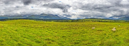 panoramic view of the The Grey Corries Range and Ben Nevis, the highest moutain in Scotland and the UK photo