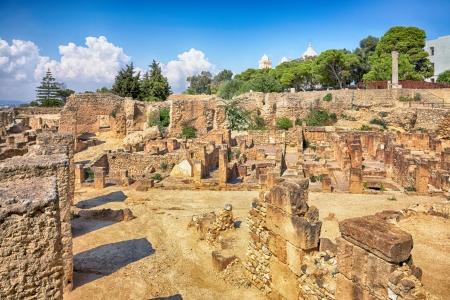ruines antiques dans le district de Byrsa punique, Carthage, Tunisie
