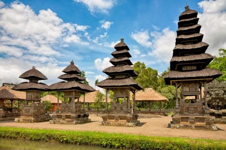 taman: panoramic view of royal temple Taman Ayun, Mengwi, Bali, Indonesia