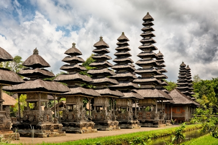 panoramic view of royal temple Taman Ayun, Mengwi, Bali, Indonesia