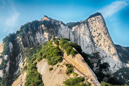 Sacred mountain Huashan, Xi'an, China Banque d'images